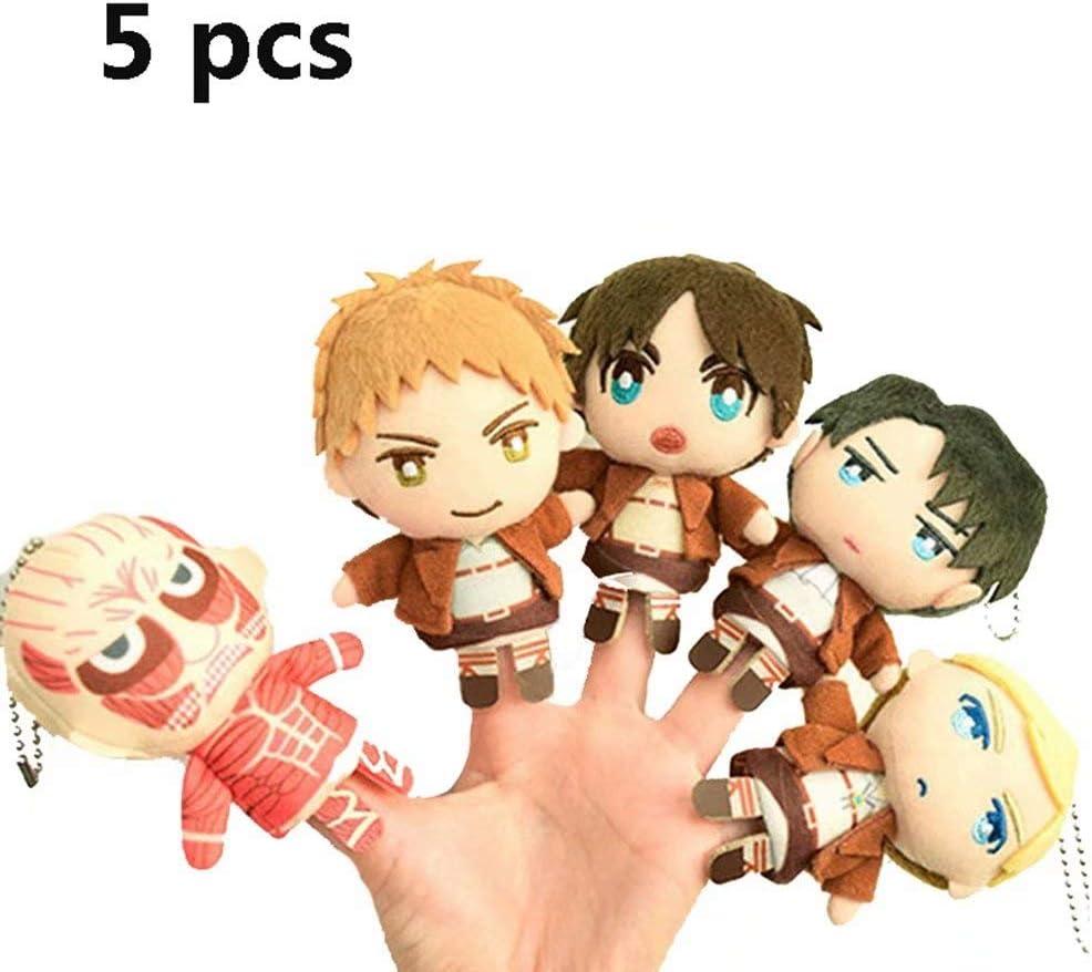 Attack on Titan Finger Puppet Toy Set para niños, Juguetes para Padres e Hijos, Rellenos de Bolsas de Fiesta de Regalo de cumpleaños, decoración del hogar Junto a la Cama, Juego de Cerebro