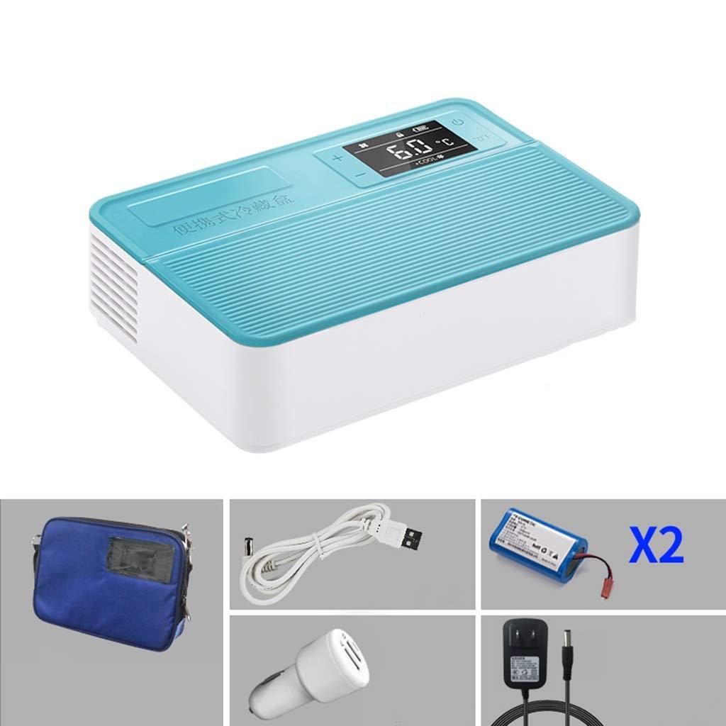 インスリン冷蔵庫 - インテリジェント操作2-12°Cカーホームデュアルユース冷蔵庫(2個の電池)   B07RR3FZNQ