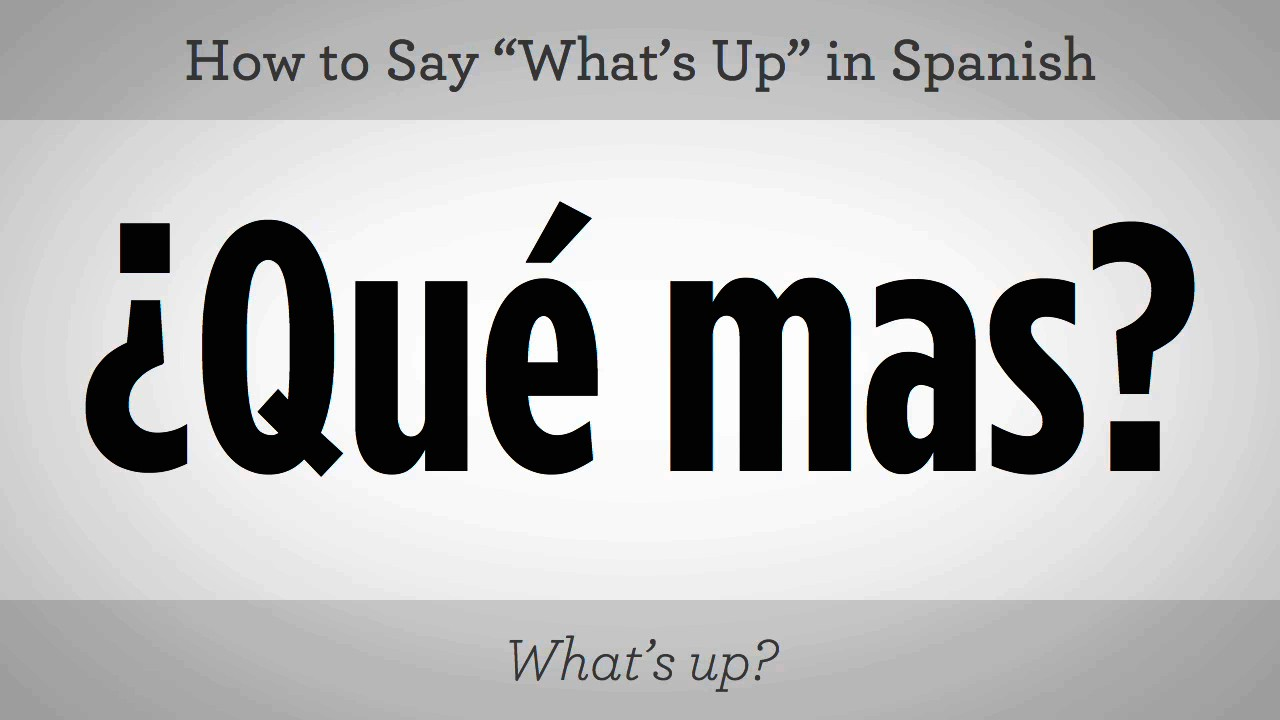 How to say do what i in spanish