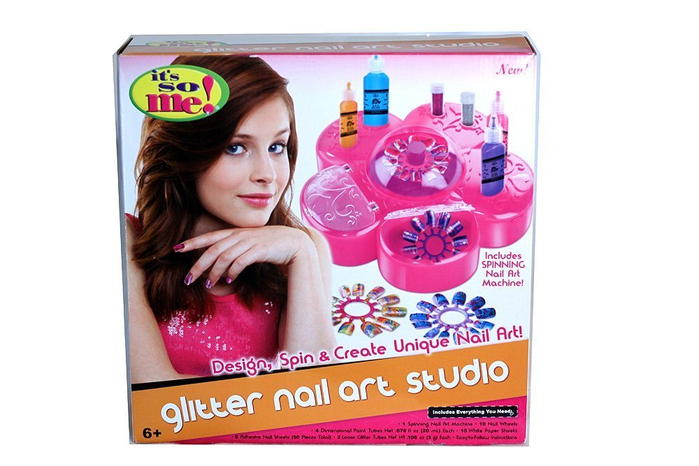Amazon.com: It\'s So Me! Glitter Nail Art Studio: Toys & Games