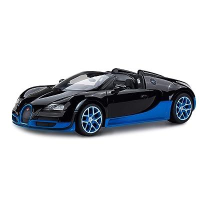 Imachine Radio Remote Control 1/14 Bugatti Veyron 16.4 Grand Sport Vitesse Licensed RC Model Car (Black/Blue): Toys & Games