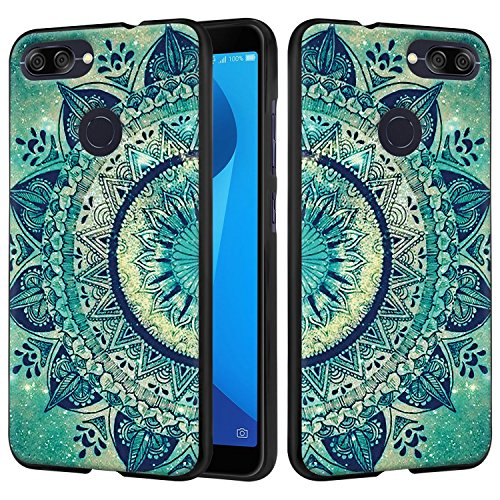 Asus ZenFone Max Plus ZB570TL Case, Linkertech Slim Air Armor Thin Fit Silicone Gel Soft TPU Bumper Durable Flex and Easy Grip Protective Case for Asus ZenFone Max Plus (M1) 5.7 (Floral Totem)