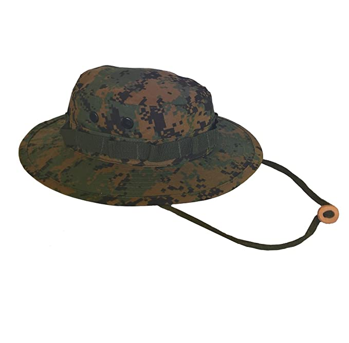 Image Unavailable. Image not available for. Color  Army Navy Shop UV  Protective Boonie Hat Woodland Digital ... 64fe10c8171