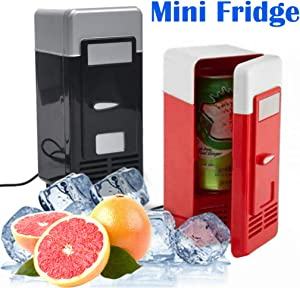 Yiduore Mini Fridge 3.8 Liter/Ac/Dc Compact Refrigerator Portable Thermoelectric Cooler and Warmer for Bedroom, Cosmetics, Medications, Breastmilk, Home and Travel