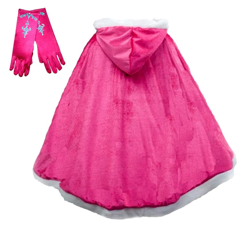Enchantly Girls - Princess Dress Up Cape - Fits Age 3-8 (Pink) by Enchantly