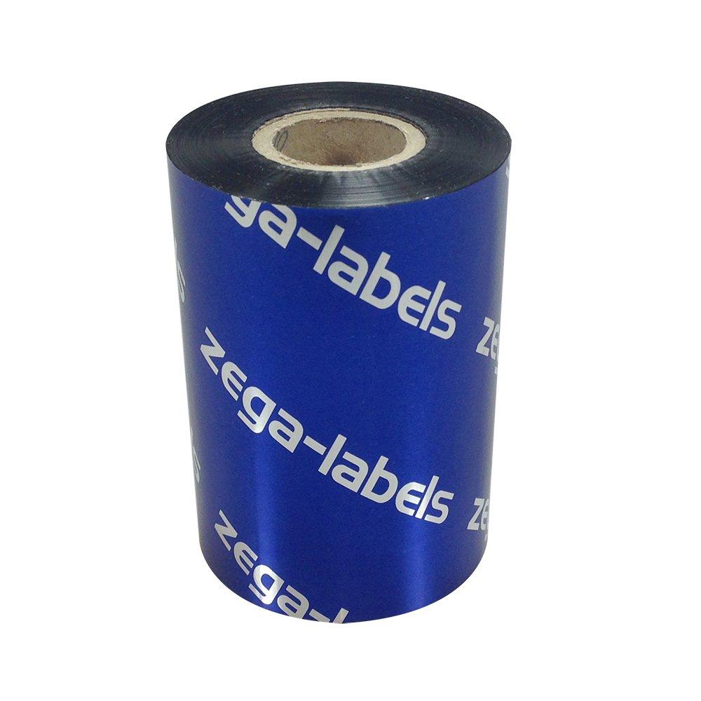Thermotransfer Farbband schwarz 90 mm x 300 m - zega blue (Wachs ...