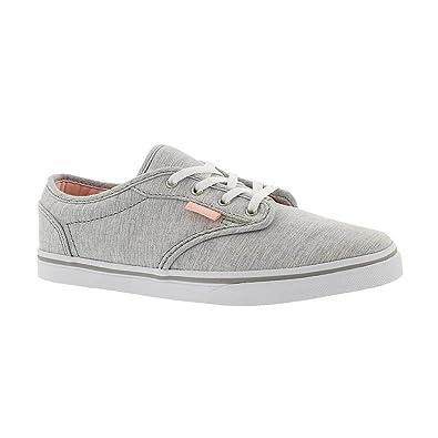 Vans Girl s Atwood Low (Menswear) Summer Gray Skateboarding Shoes (Kids US  ... b69343cdc