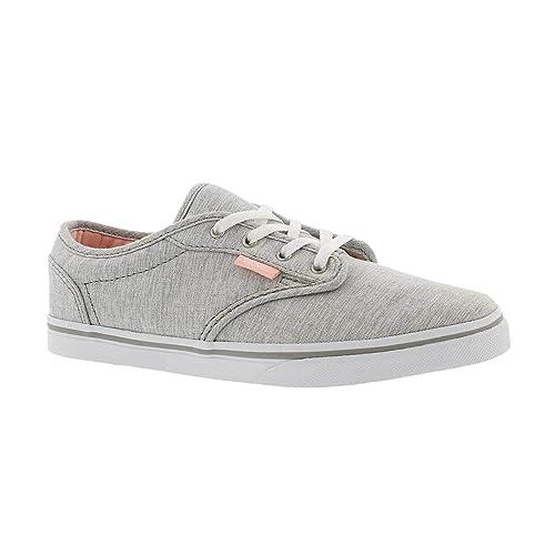 VansVN000301ISI - Vans Atwood para Chica Corte bajo (Menswear) Zapatillas de Patinar Grises Unisex