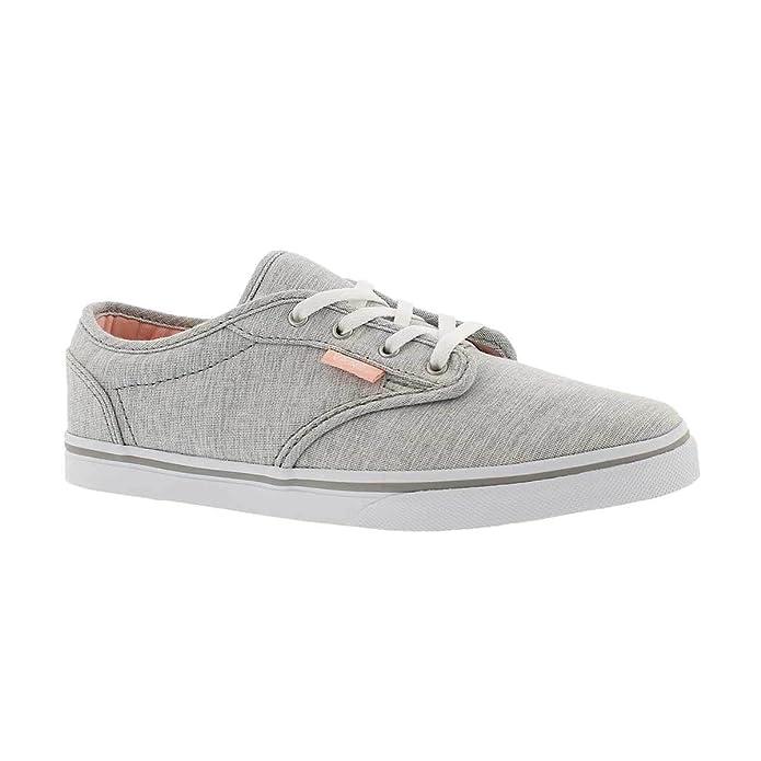 VansVN000301ISI - Vans Atwood para Chica Corte bajo (Menswear) Zapatillas de Patinar Grises Unisex Niños, Gris ((Menswear) Summer Gray), Kids US 10.5: ...