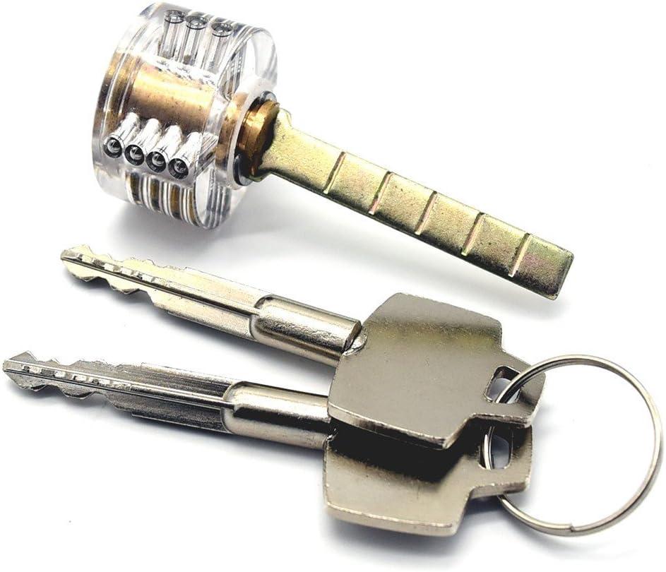 Cadenas transparent avec coupe visible pour entra/înement de crochetage de serrure Outils de serrurier