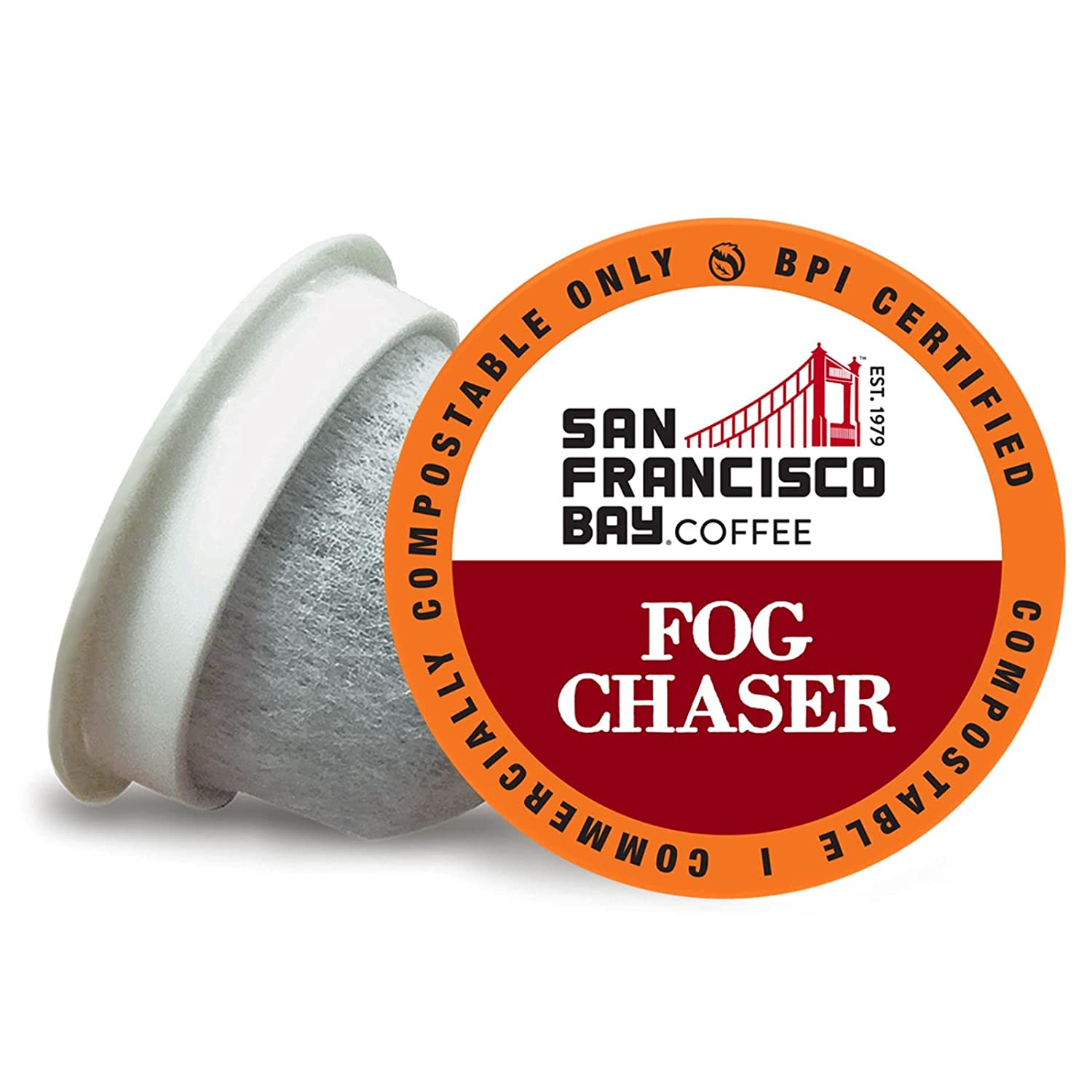 SF Bay Coffee Max Department store 57% OFF OneCUP Fog Chaser Dark Medium Roast Ct 120 Compost