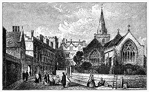 Oxford Pembroke College Nview Of Pembroke College On The Campus Of Oxford University Oxford England Wood Engraving English C1885 Poster Print by (24 x 36)