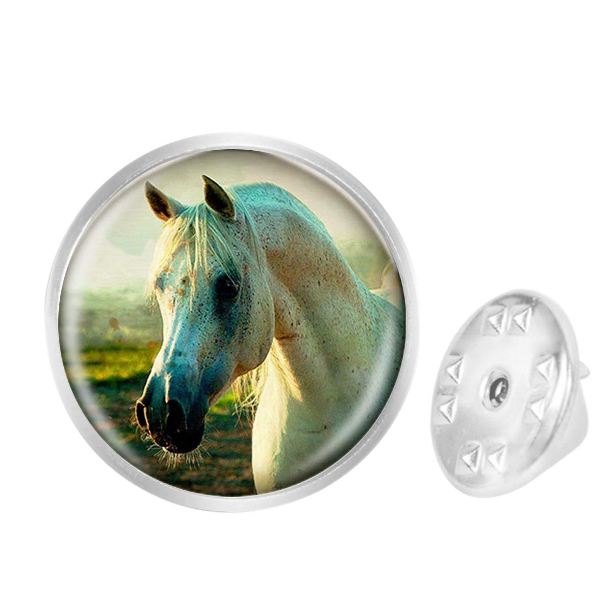 Custom Lapel Pin Brooches Reality Grassland Horse Banquet Badge Pins Trendy Accessory Jacket T-Shirt Bag Hat Shoe