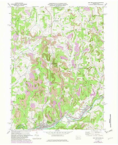 - YellowMaps New Bethlehem PA topo map, 1:24000 Scale, 7.5 X 7.5 Minute, Historical, 1969, Updated 1982, 27 x 22 in - Paper