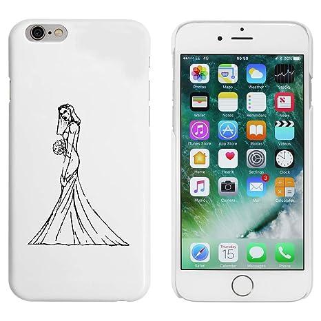 Stamp Press Blanco Novia Funda / Carcasa para iPhone 6 y ...