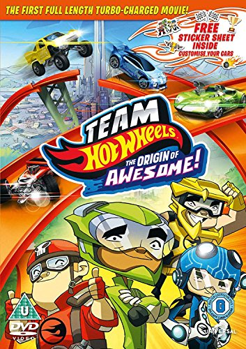 Team Hot Wheels: The Origin of Awesome (Includes Sticker Sheet) [DVD] [2013] (Awesome Picture Of Cars)