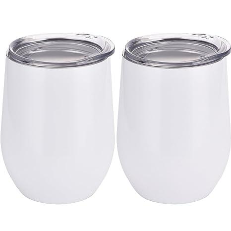 Amazon.com: Skylety - Vaso de acero inoxidable con tapas ...