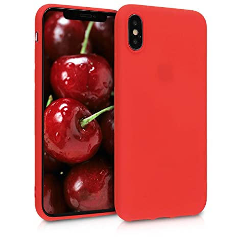 iphone x coque apple rouge