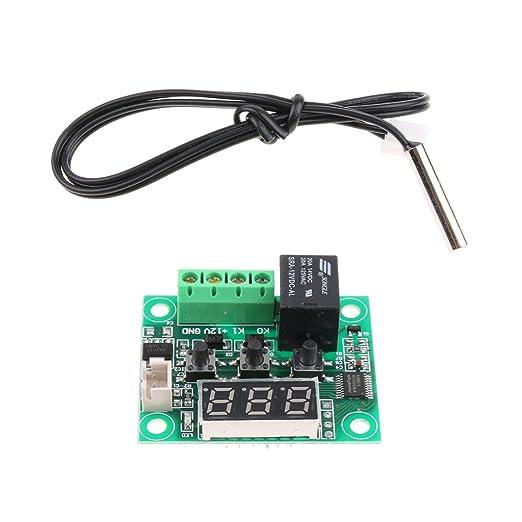 XH-W1209 Placa del Interruptor de Termostato Alta Precisión Control Digital de Temperatura: Amazon.es: Electrónica