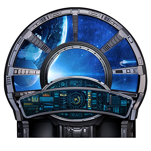 Spaceship Control Large Window Wall Decal