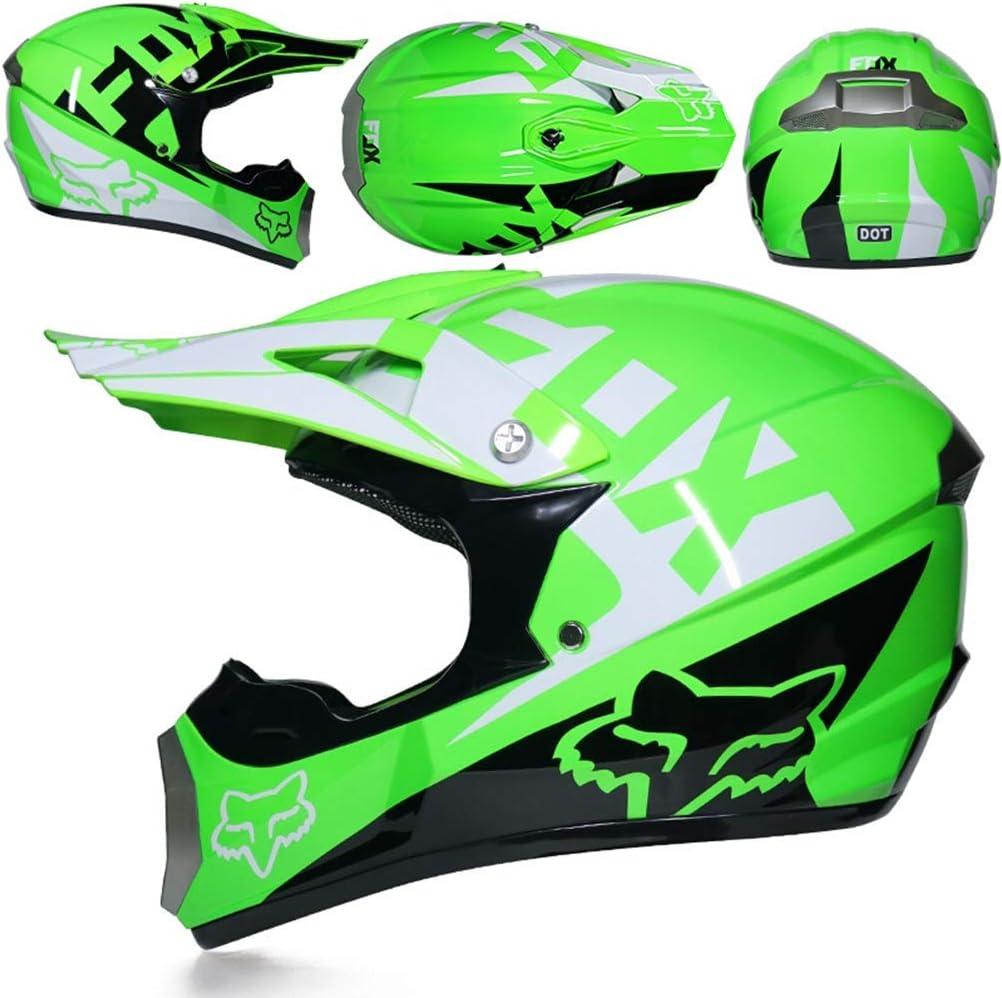 Herren Vollgesichts-Motorradhelm mit Geschenk Maske und Visier Off-Road-Motorradsturzhelme Moto Motocross Racing Protection Safety Caps