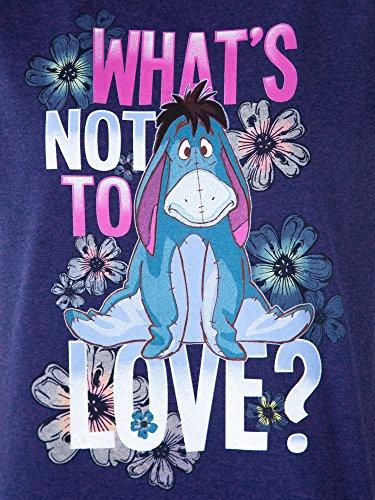 Disney Women's Fitted T-Shirt Eeyore What's Not to Love Print (Purple, Medium) by Disney (Image #3)