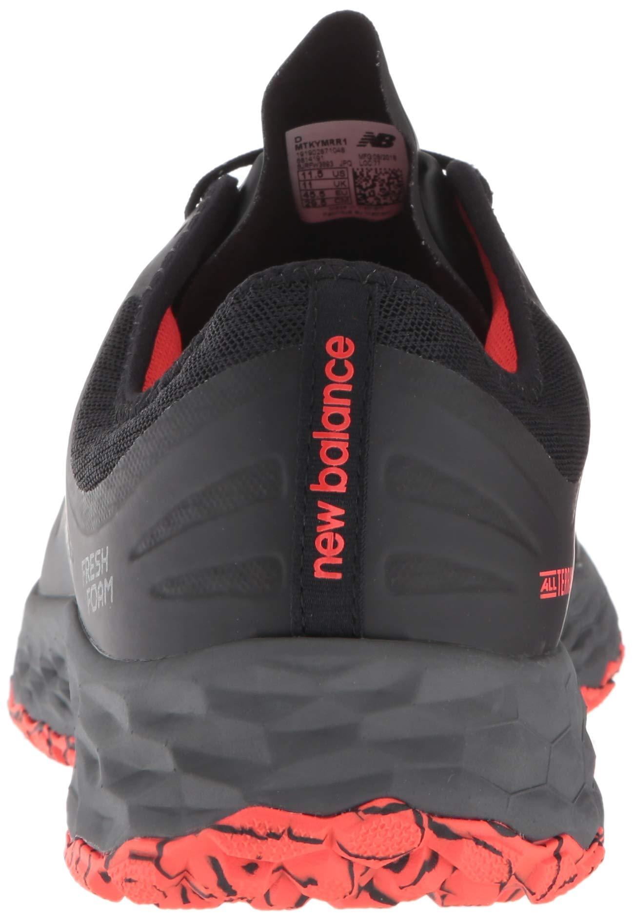 New Balance Men's Kaymin V1 Fresh Foam Trail Running Shoe, Black/Flame/Reflective, 1.5 D US by New Balance (Image #2)