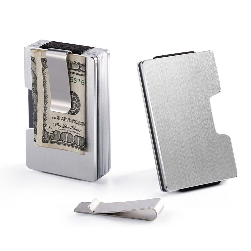 68e3f3c9b Dlife Hombre Tarjeteros -Tarjeteros Para Tarjetas de Crédito RFID de  Aluminio Negocio Mini Carteras para Hombre Mujer (Plata): Amazon.es: Hogar
