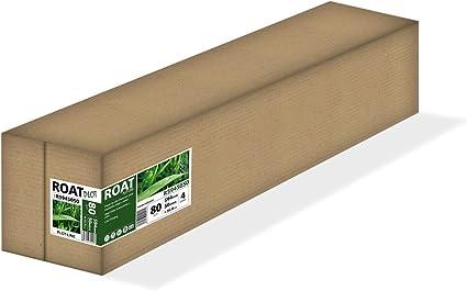 ROAT R5945050 – Rollo de papel inkjet de 80 gr, 594 mm x 50 mtrs, extra blanco, para todo tipo de plotters, 4 uds/caja: Amazon.es: Oficina y papelería