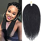 Mirra's Mirror (6Packs-18Inch -30 Strands) 1B# Senegalese Twist Crochet Hair Synthetic Braiding Braids Hair For Women