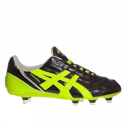 Asics Tigreor ST - Scarpe da Calcio 8 Tacchetti - Black/Neon Yellow/Silver (9007) (40.5)