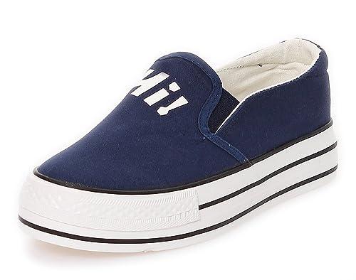 Zapatillas Deportivas de Mujer Mocasines Calzado Deportivo Zapatos Bajos de Cordones Zapatillas de Deporte 187: Amazon.es: Zapatos y complementos