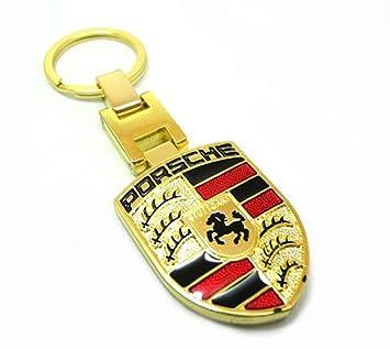 GUMP Calidad para plnchar Porsche llavero cromado dorado ...