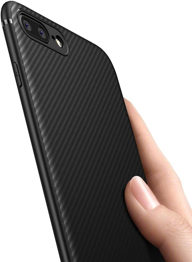XINYUNEW Funda iPhone 8 Plus,Funda iPhone 7 Plus,[Textura Fibra de ...