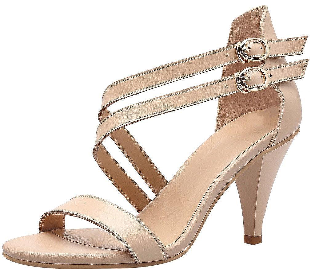 Calaier Femme Saldd 8CM Cônique Boucle Sandales Chaussures