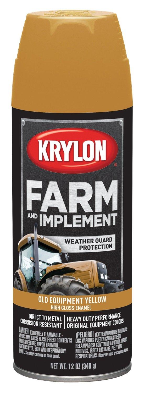 Krylon 1953 Krylon Farm & Implement Paints Old Equipment Cat Yellow 12 oz. Aerosol Krylon Farm & Implement Paints