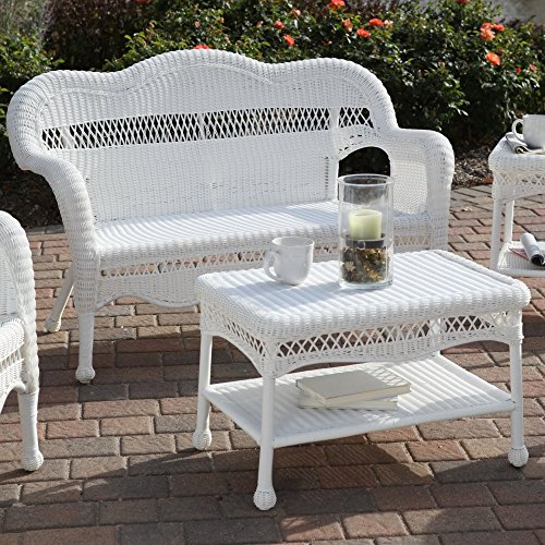 Sahara All-Weather Wicker Loveseat (Set Loveseat Wicker)