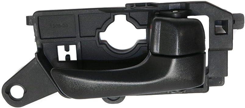 Plastic Rear Passenger Side Door Handle For Sonata 08-10 Black