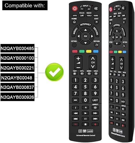 Mando a Distancia Universal para Panasonic TV N2QAYB000487 ...