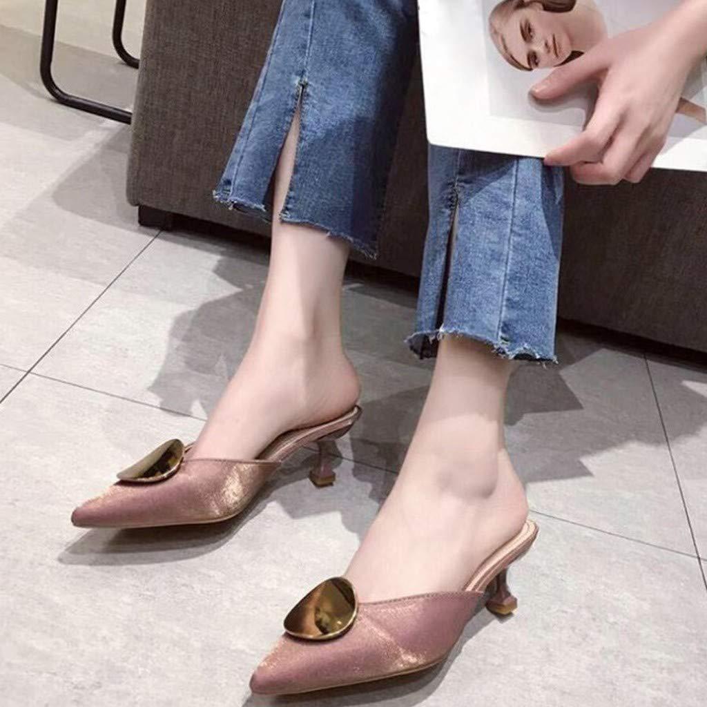 Chaussures Femme /Ét/é Escarpin Sandale Petit Talon Chaussure Vintage Talons Hauts Bout Pointu Talons Hauts Chaussures de Mariage Sandales Sandales Fille Chaussures Basket