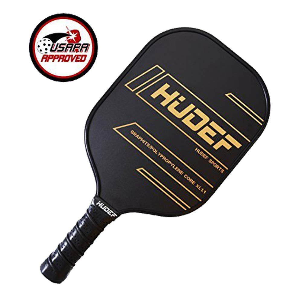 HUDEF Pickleball Paddle with 1 Graphite Paddle and 3 Overgrip Vinyl-Laminate Graphite Face | PP Honeycomb Core |