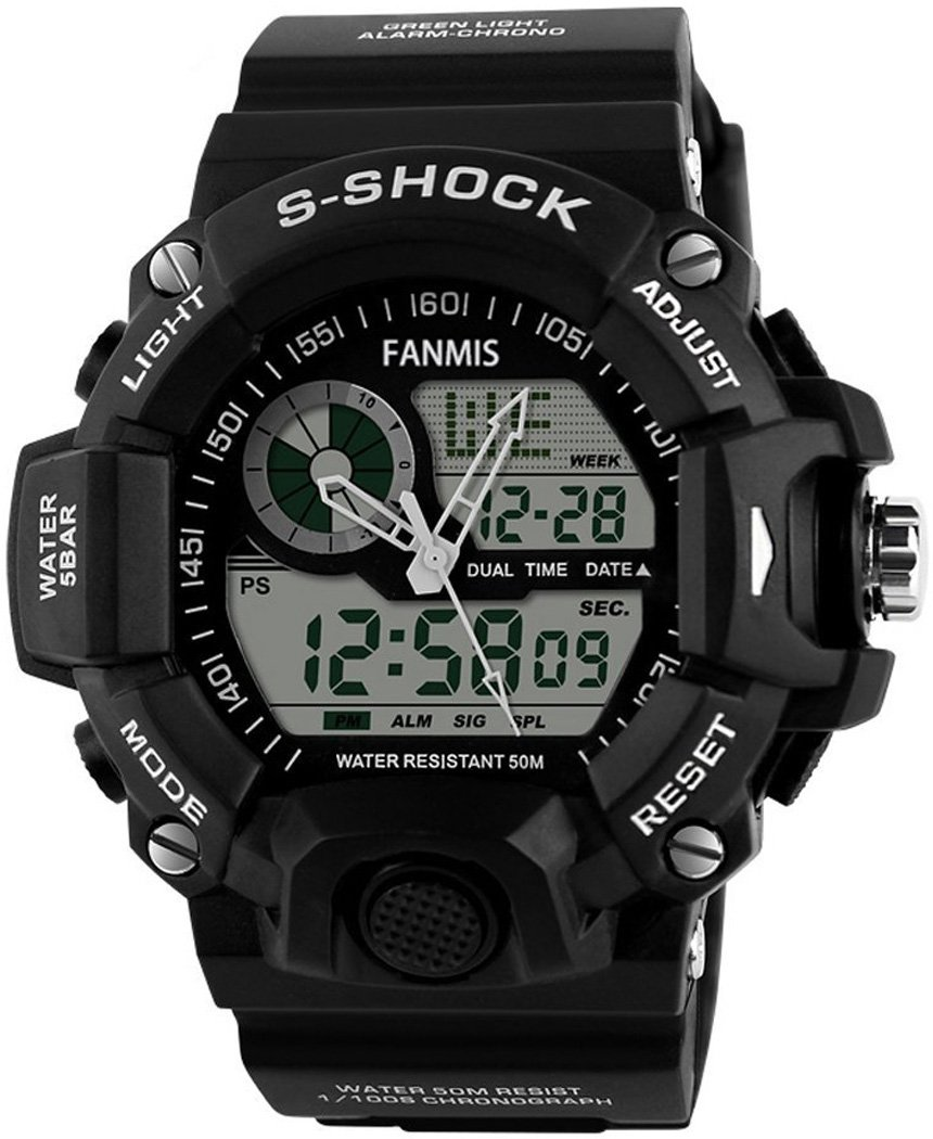 fanmis men 39 s analog display led watches military. Black Bedroom Furniture Sets. Home Design Ideas