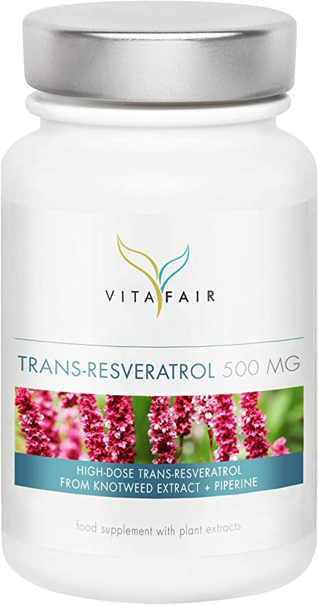 Trans Resveratrol 500mg Per Daily Dose 60 Caps From Japanese