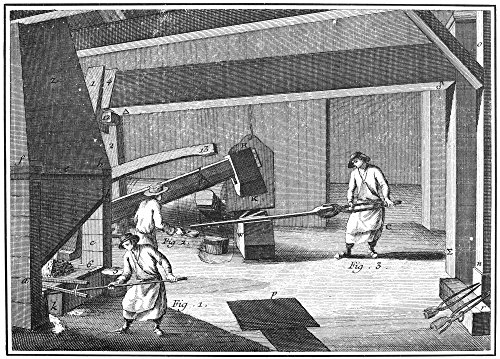 Fig Moments - France Iron-Making Ncasting Cold Water On The Bloom (Fig 2) At The Moment Of Hammering To Assist In Scaling Off Impurities Line Engraving French C1750 Poster Print by (18 x 24)