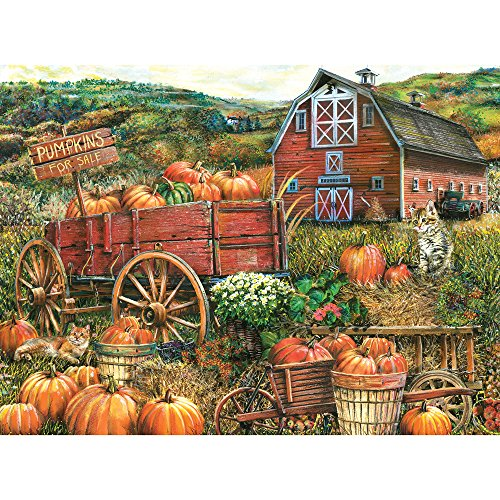 Bits and Pieces - 1000 Piece Jigsaw Puzzle for Adults - Pumpkin Farm - 1000 pc Autumn Scene Jigsaw by Artist Thomas Wood