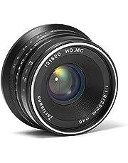 7artisans Lentes de Cámara 25mm F1.8 Prime Fixed Lens for Fujifilm Fuji Cameras X-A1 X-A10 X-A2 X-A3 X-AT X-M1 XM2 X-T1 X-T10 X-T2 X-T20 X-Pro1 X-Pro2 X-E1 X-E2 X-E2s - Black