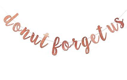 Amazon.com: Donut Forget Us - Guirnalda con diseño de donas ...