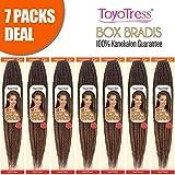 ToyoTress 7Packs/Lot 14Inch Box Braids Crochet Hair 100% Kanekalon Crochet Box Braids Hair