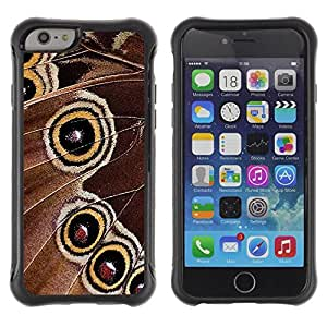 Fuerte Suave TPU GEL Caso Carcasa de Protección Funda para Apple Iphone 6 PLUS 5.5 / Business Style Butterfly Spots Yellow Spring Nature