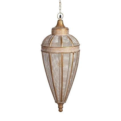 Lámpara de Techo de Metal Dorada clásica para salón Arabia ...